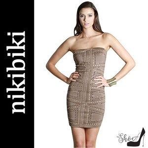 NikiBiki: Jeweled Strapless Bodycon Dress